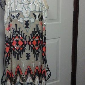 All Saints Spitafileds sequins top/dress size 10